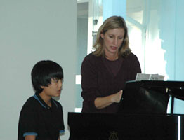 Karen and Piano Student